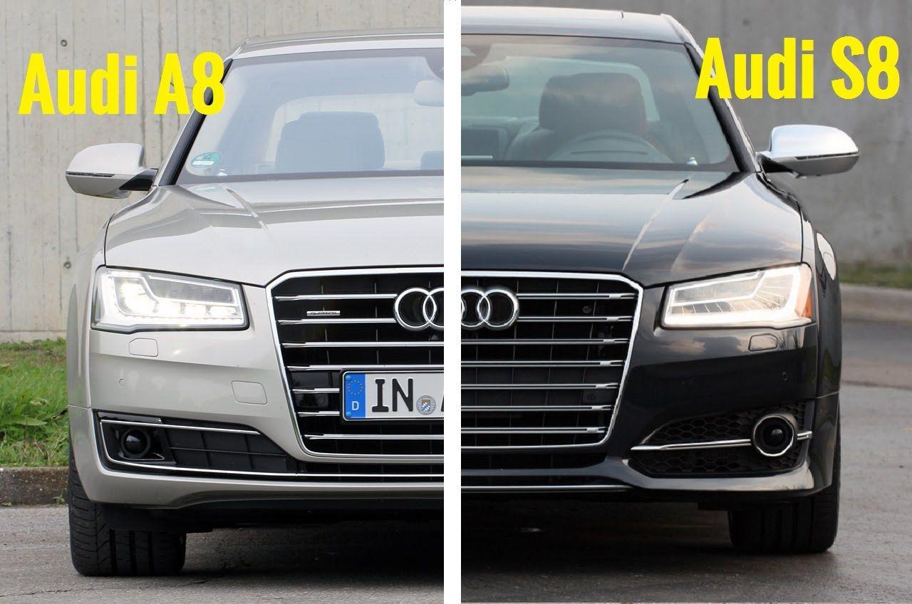 2015 audi s8 vs 2015 audi a8 visual comparison