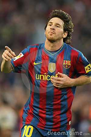 Leo Messi of Barcelona during a Spanish League match between FC Barcelona and Valladolid at the Nou Camp Stadium on May 16, 2010 in Barcelona, Spain