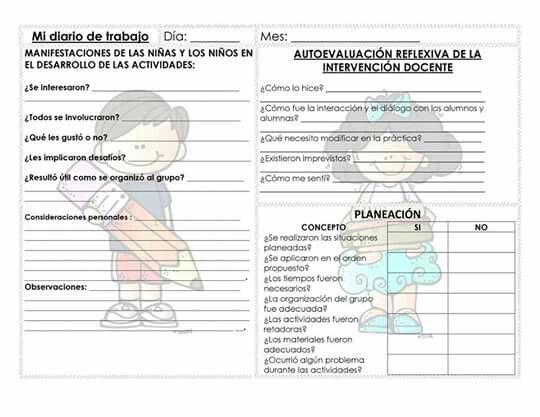 Diario De Trabajo Diario Escolar Diario De La Educadora Formatos De Planeacion