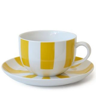 Sunshine yellow stripes. Sippity Sip!