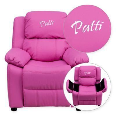 Flash Furniture  Fauteuil inclinable en vinyle pour enfants rose vif  Products