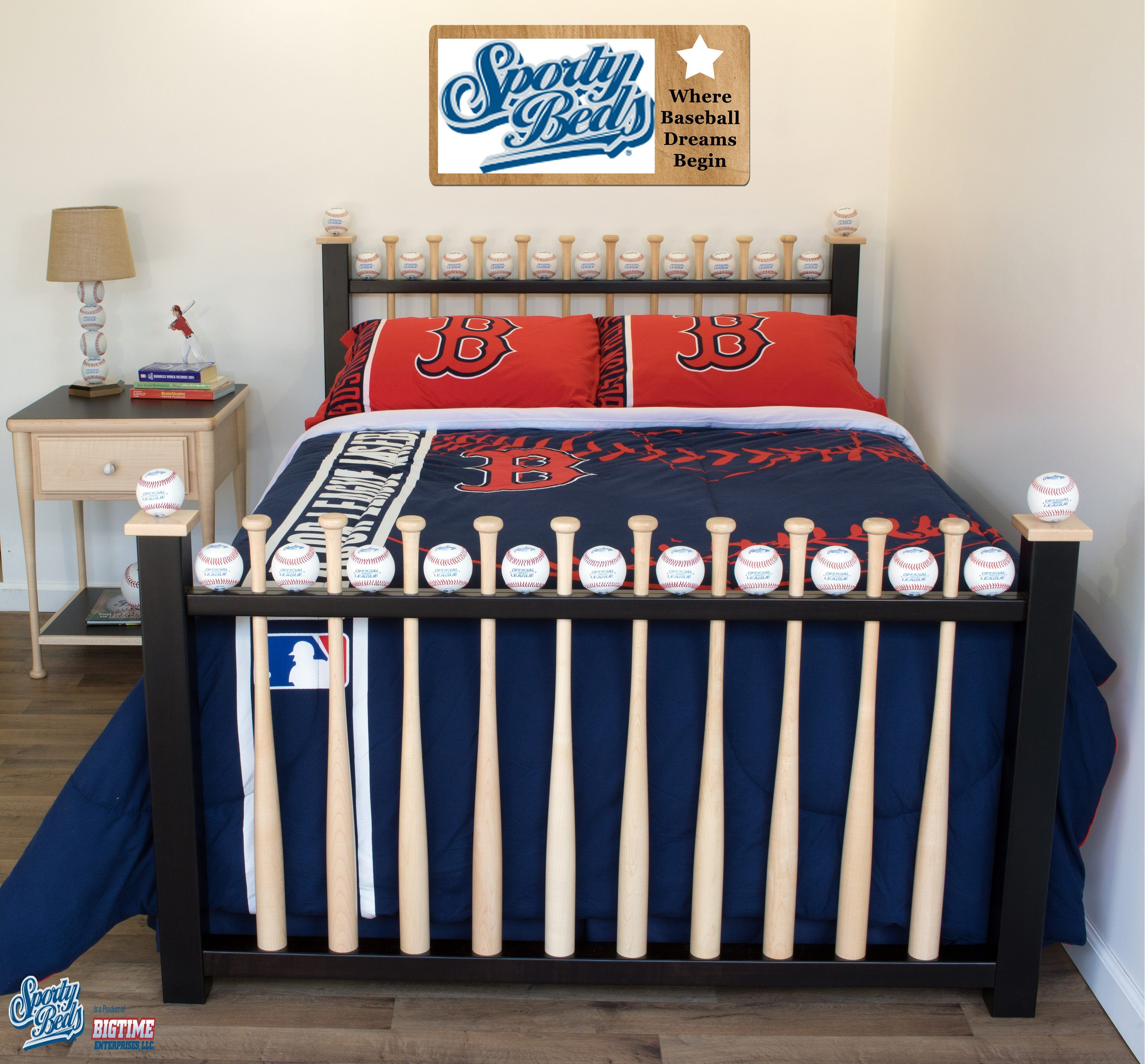 Full Size Big League Baseball Bed by Sporty Beds (With