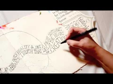 Valerie Sjodin demonstrates and tells how she adds and enhances lettering from a simple block style of writing in her art journal. The sample shown is taken ...