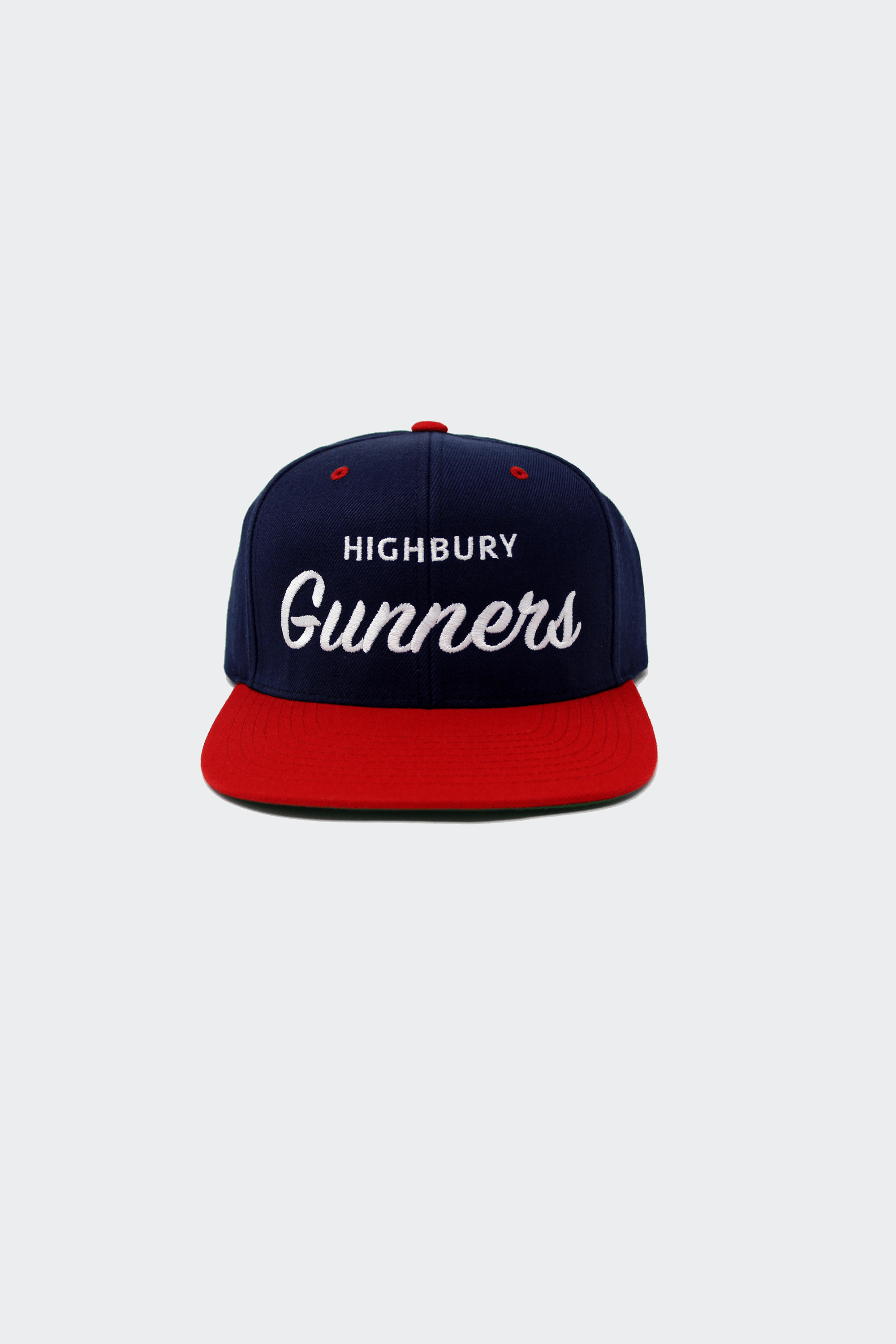 87455838cf3 This London Arsenal snapback hat features the home of Arsenal Stadium