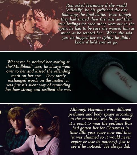 Ron And Hermione Headcanons Same Old Love Potterhead Pinterest