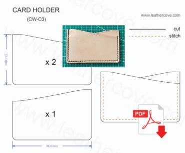 3a8315052c4f Slim Card Holder Pattern – PDF | Patternmaking | Leather wallet ...
