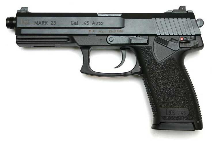 The HK Mark 23 Caliber .45 ACP pistol gives shooters match grade ...