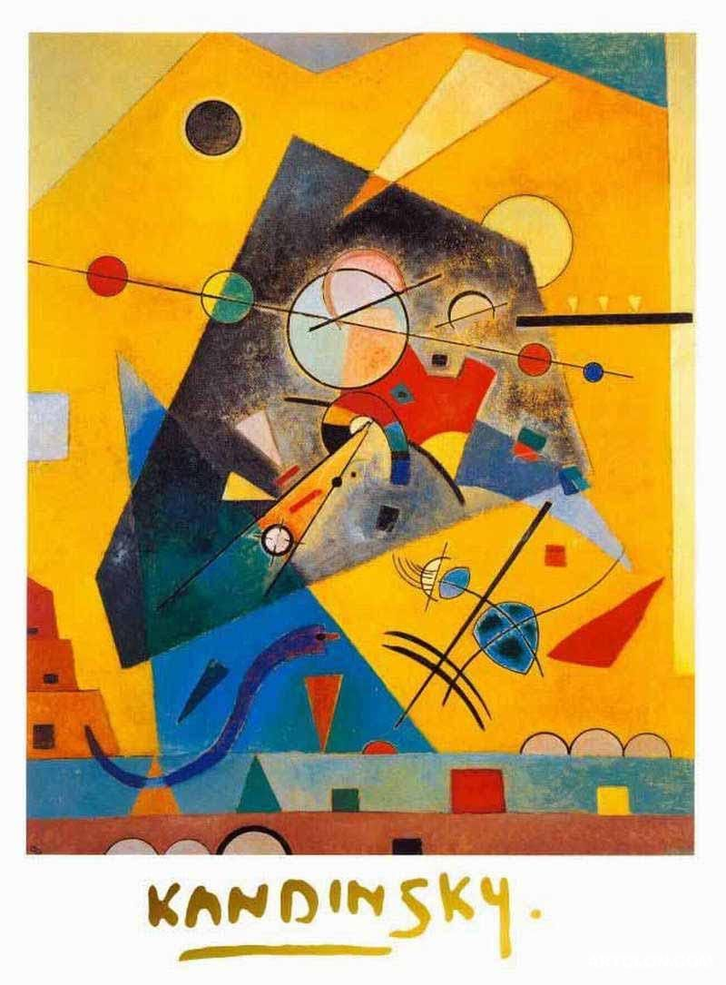 Wassily Kandinsky Quiet Harmony Painting Reproduction On Artclon For ...