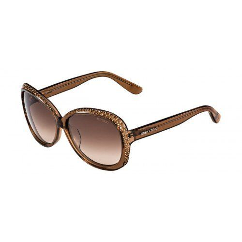 a918cfad420 Jimmy Choo LU F S LRLD8 (Transparent Brown with Brown Gradient lenses)