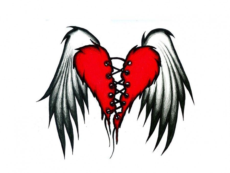 Wings Heart Crown Tattoo Home Tattoo Tattoos Of Broken Hearts The Flying Wings Of Broken Heart Heart With Wings Tattoo Broken Heart Tattoo Heart Tattoo