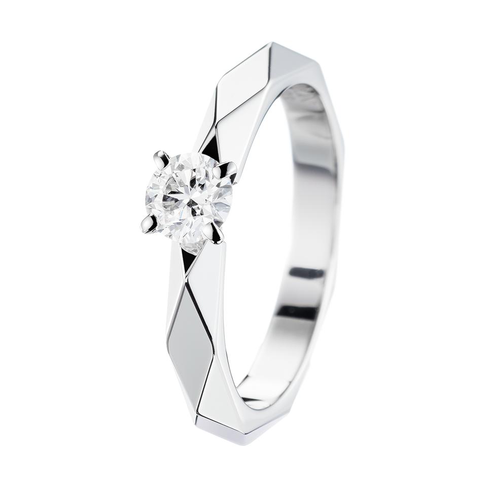 check-out 17b03 07678 Facette Platinum Solitaire, a Maison Boucheron Bridal ...