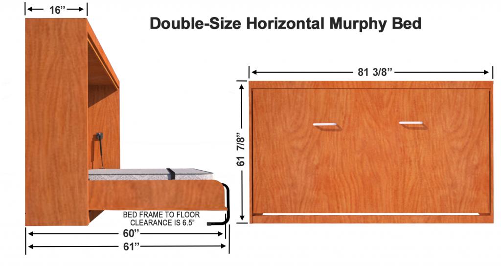 Vertical Murphy Bed Kit in 2020 Murphy bed hardware