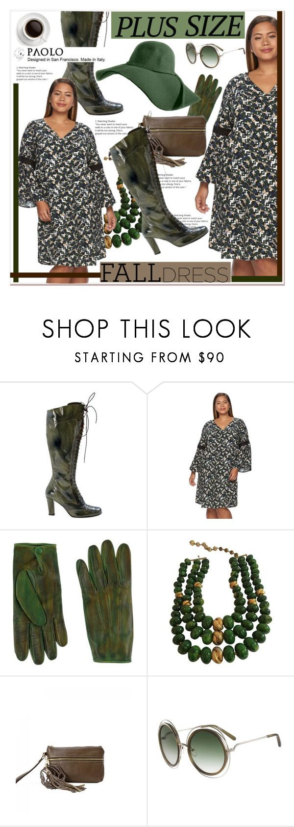 """""""Fall Look: Plus Size Dresses and PaoloShoes"""" by spenderellastyle ❤ liked on Polyvore featuring Design 365, AGNELLE, Castlecliff, Soma and Chloé"""