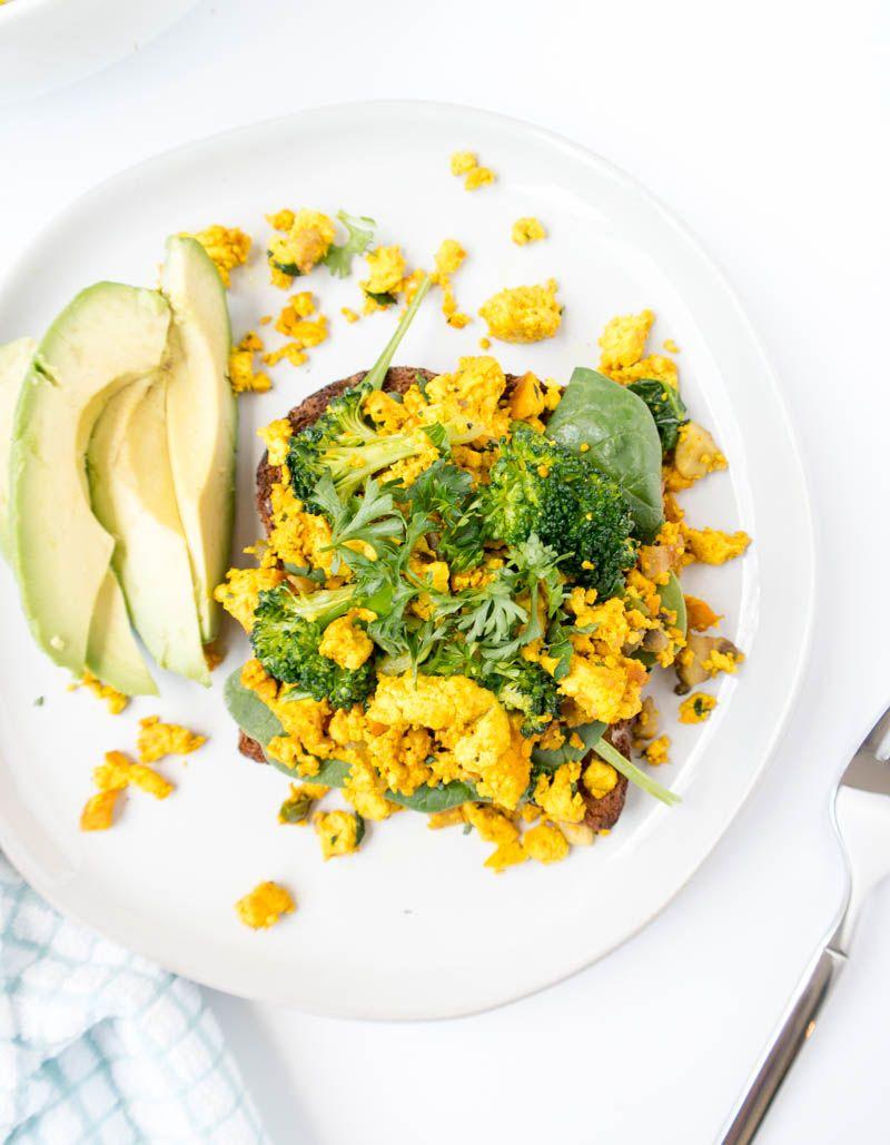 Tofu Veggie Breakfast Scramble Recipe Veggie Breakfast Delicious Vegan Recipes Breakfast