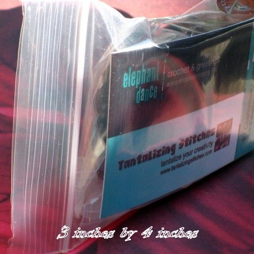100 Clear Recloseable Poly Bags (available in 3x4, 3x5, 3x6, 4x6, 5x7 sizes)