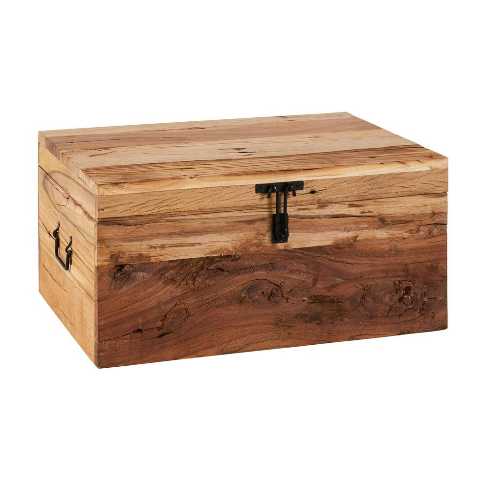 malle en manguier et acacia recycl s deco trunks. Black Bedroom Furniture Sets. Home Design Ideas