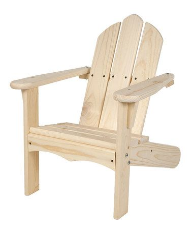 Loving this Unfinished Adirondack Chair on #zulily! #zulilyfinds