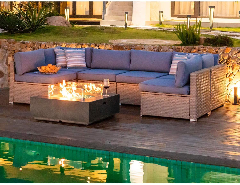 cosiest outdoor wicker sectional sofa