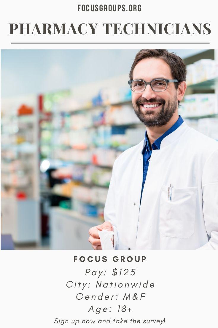 Focus group for pharmacy technicians pharmacy technician
