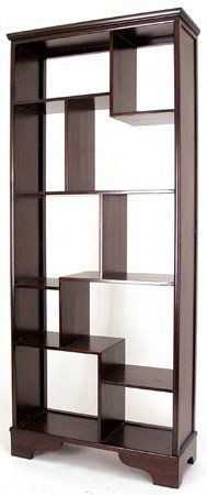 """Unique Japanese Style Asian Furniture - 78"""" Asian Design Curio Display Shelf Unit Book Case - Extra Tall 6 and a Half Feet by ORIENTAL FURNITURE, http://www.amazon.com/dp/B002PRC9ZK/ref=cm_sw_r_pi_dp_-p3prb0K2ZWPD"""