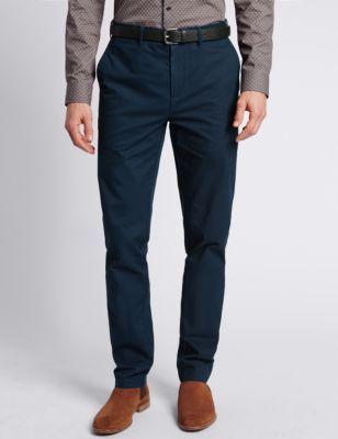 M\u0026S | Mens trousers casual, Men casual