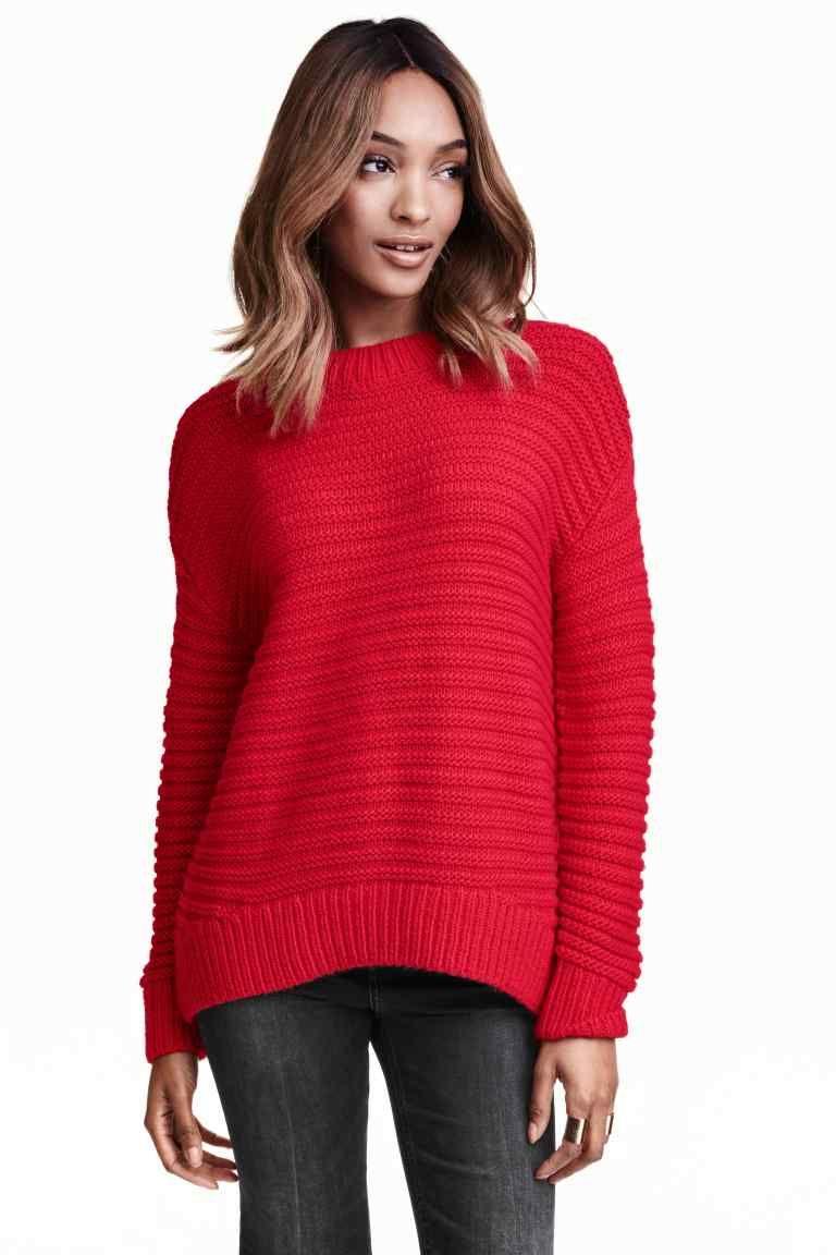 9fb0d3d12f Kötött pulóver | H&M | Pulcsi | Sweaters, Red sweaters és Vintage ...