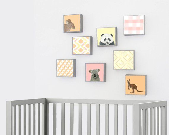 Panda Bear Nursery Art Animal Print Decor Boho