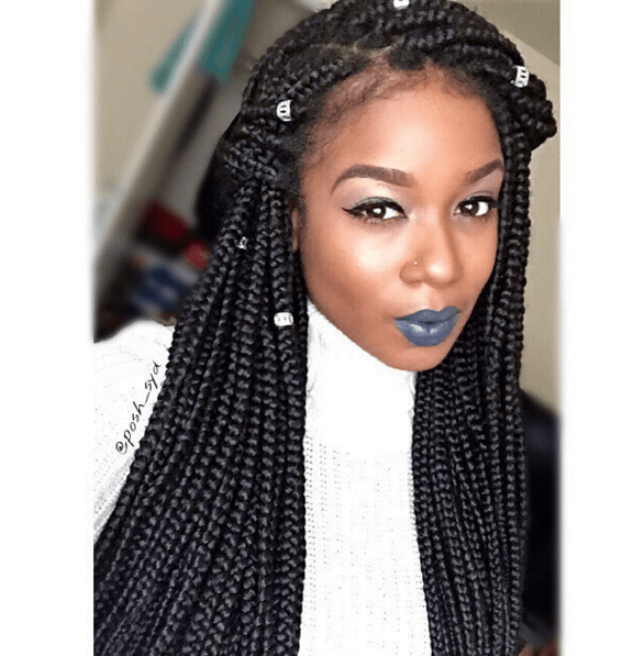 5 Quick Box Braid Hair Styles Hair Styles Braids For Black Hair Braided Hairstyles