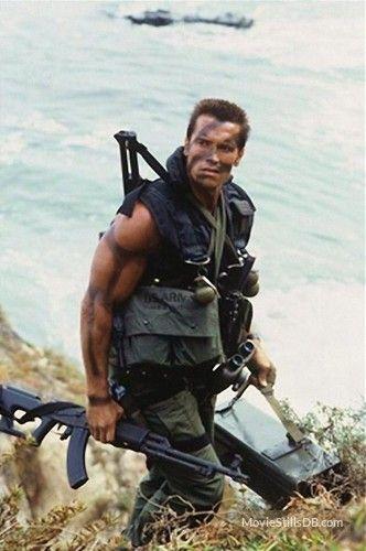 Commando - Publicity still of Arnold Schwarzenegger -Watch