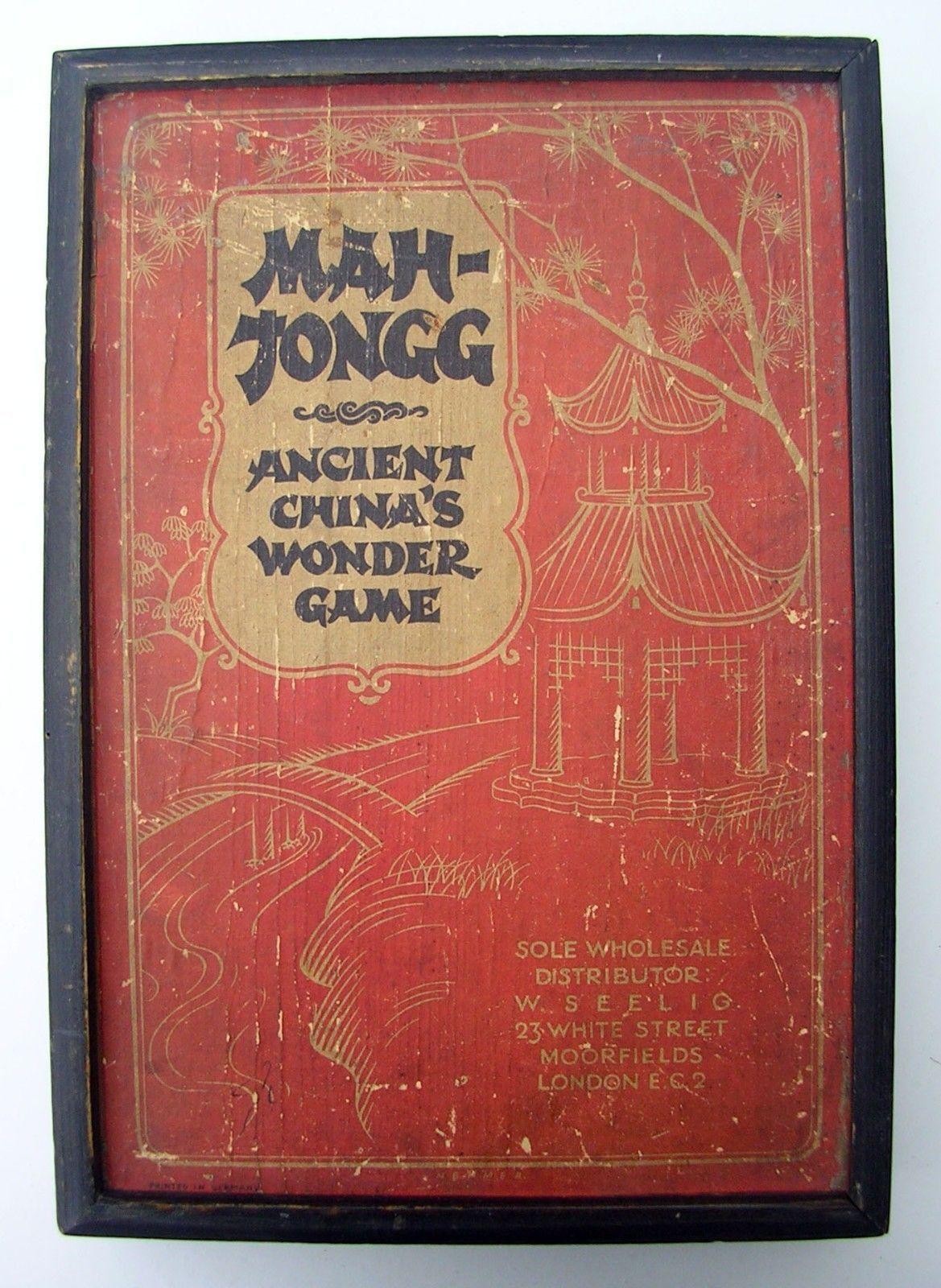 RARE Mah Jong Stone Set 148 Tiles Ancient China's Wonder