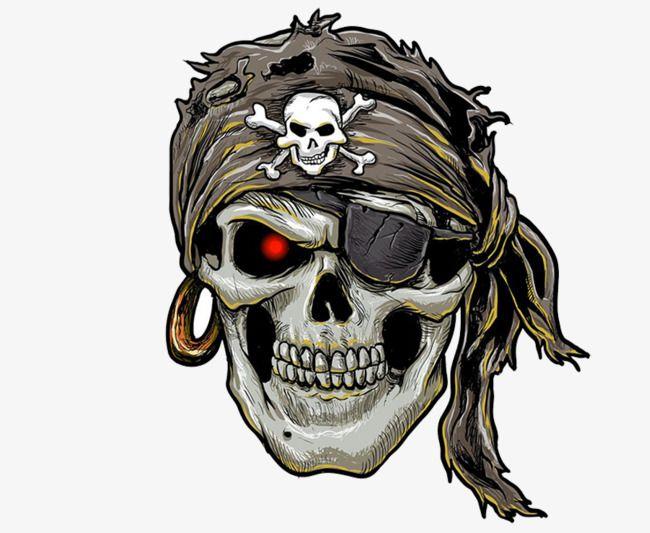 Pirate Skull Png And Psd Pirate Skull Tattoos Pirate Skull Skull Illustration