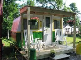 Porch ~ Perfect for glamping at home....Mickey would look sweet with his own porch..add that do our to do list!