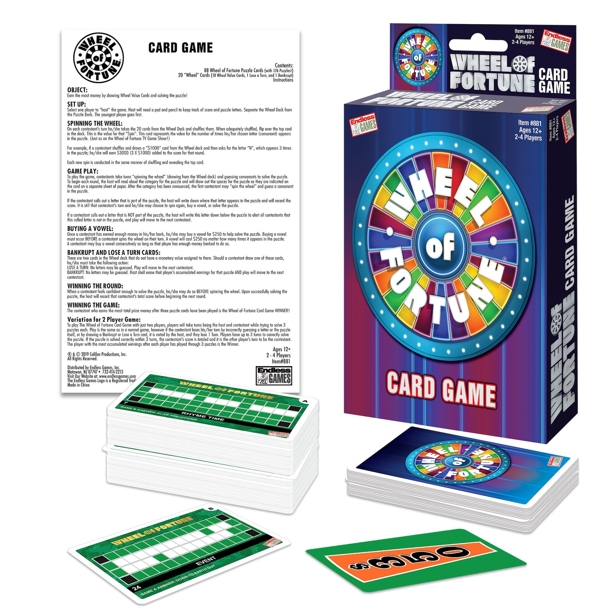 Wheel Of Fortune Card Game by Endless Games Affiliate
