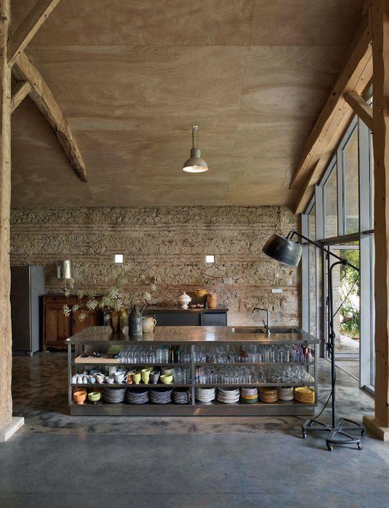 Industrieel Design Vintage.Keuken Kookeiland Vintage Design Industrieel Loft Lovt