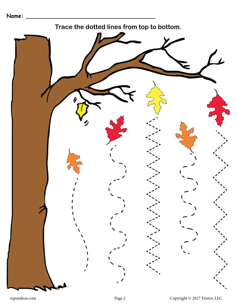 Printable Fall Line Tracing Worksheets Line Tracing Worksheets Tracing Worksheets Preschool Fall Preschool Activities [ 1024 x 791 Pixel ]