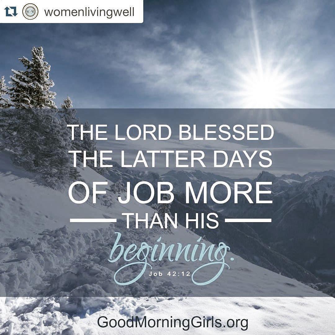 #goodmorninggirls #readthroughthebible #thebookofjob The