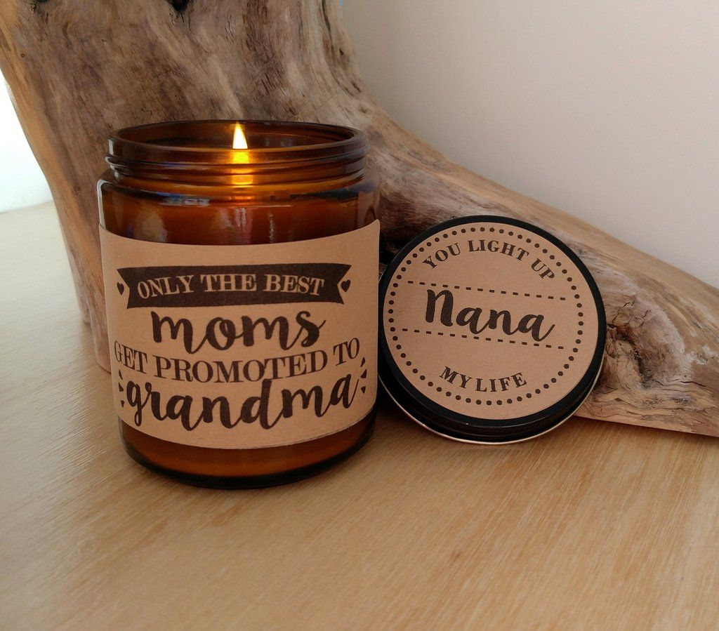 Grandma gift promoted to grandma personalized candle