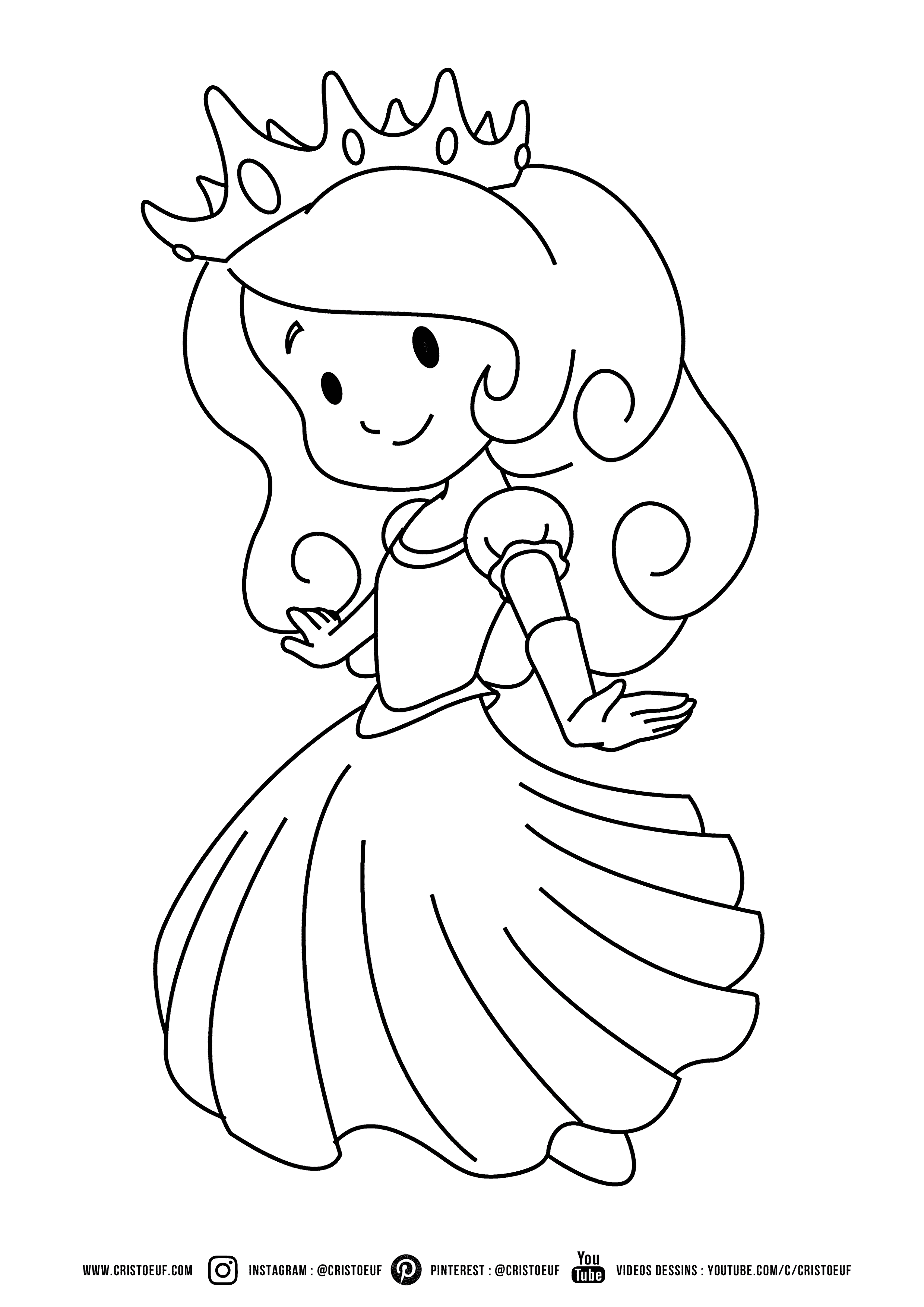 Colouring for Kids - Little Princess  Princess coloring pages