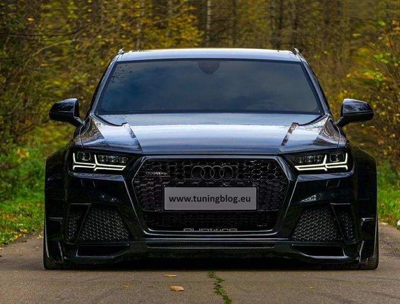 Dieser Audi SQ7 4M MJ 2017 bekam ein extremes Widebody-Kit, eine Tieferlegung und schwarze Scheinwe