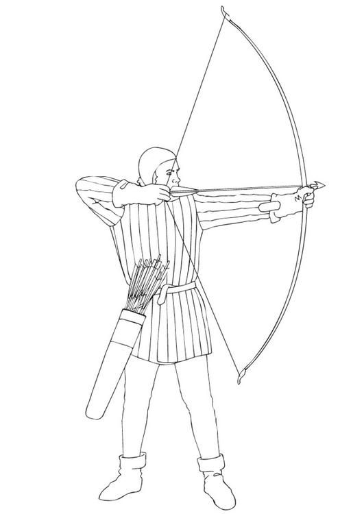 Coloring Page Bow And Arrow Img 12930 Archery Tips Archery Bows Archery