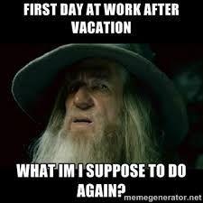 Image result for back at work after vacation meme | Memes ...