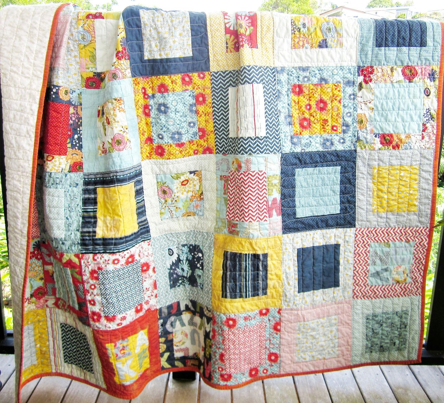 Layer Cake Lemonade Quilt And A Leftover Bee In My Bonnet Easy Quilt Patterns Easy Quilts Quilts