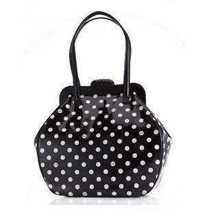 Lulu Guinness Patent Leather Dot Print Large Pollyanna Bag  61c40deb1052a