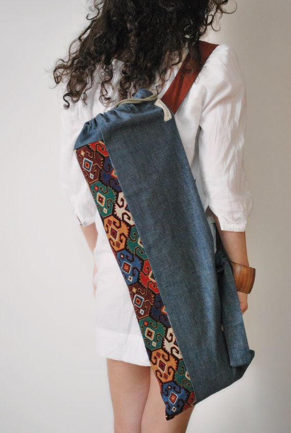 Handmade Women yoga mat bag Pilates mat bag by misirlouHandmade #yogaypilates