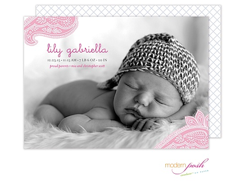 Birth Announcements, Photo Cards and Invitations from Taste Buds on the Avenue