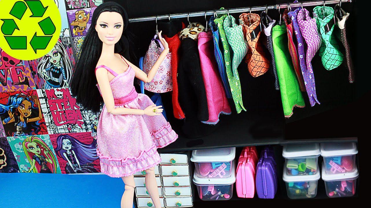 DIY Simple Doll Closet 1 Super easy doll crafts