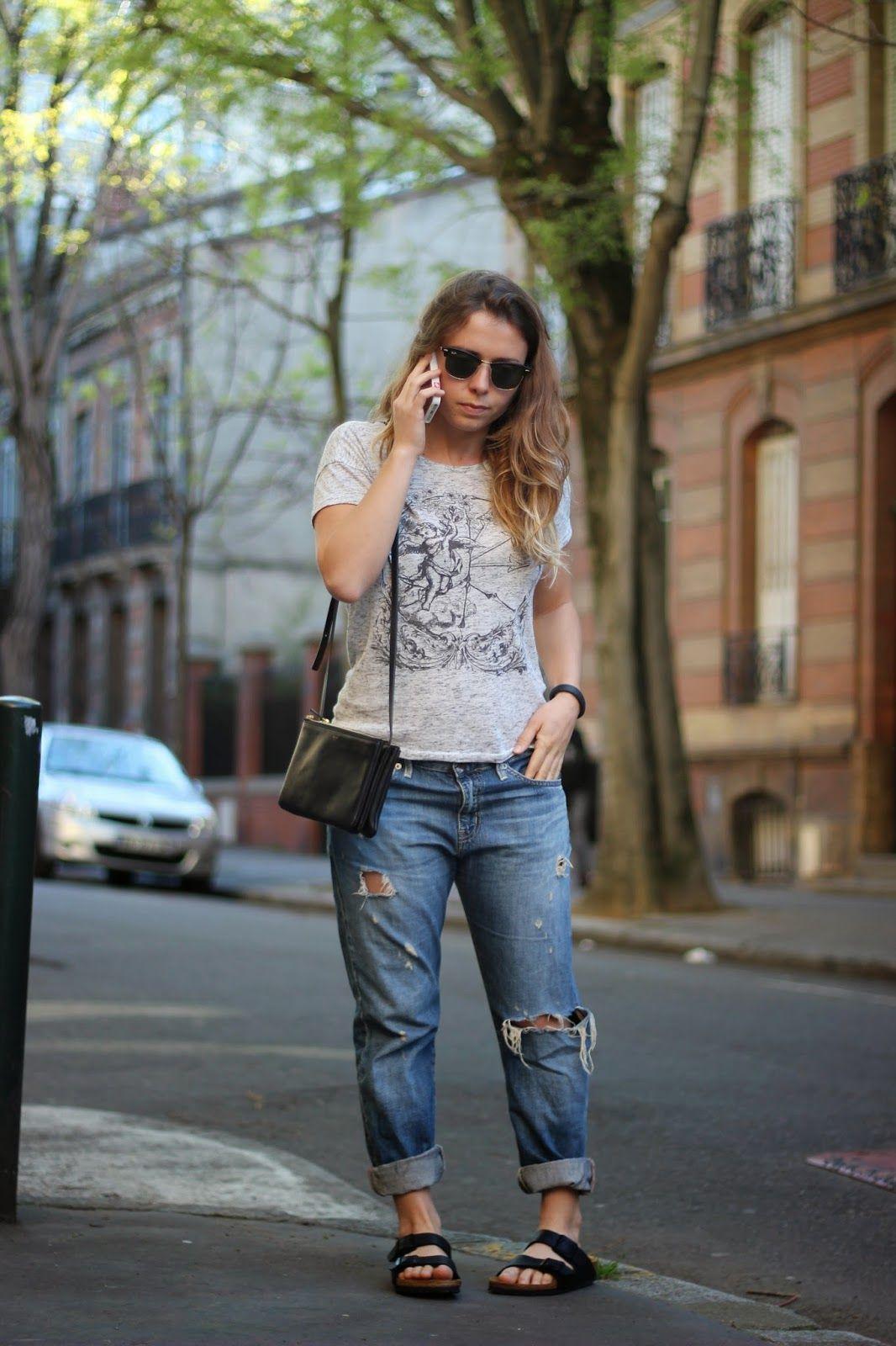 Le basique Birk' #birkenstock #outfit | Fashion••⊰ in 2019 ...