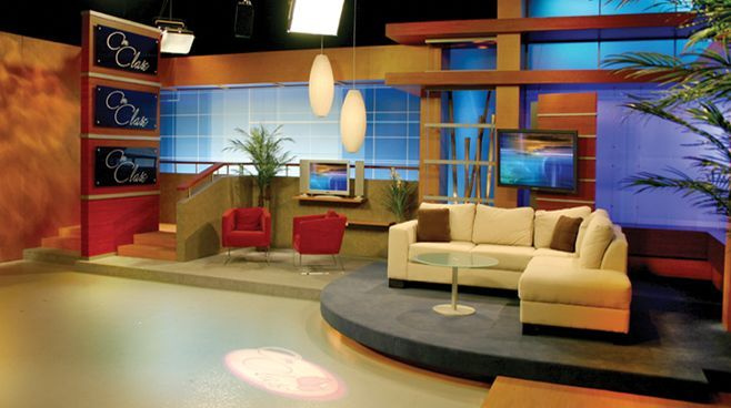 This is a neat layout too. | AHTV TV Set | Pinterest | Set design ...