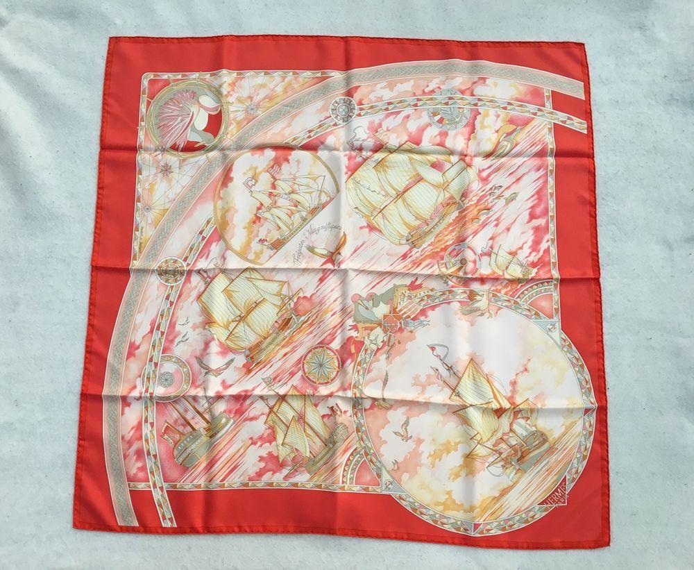 hermes foulard carre scarf fregates magnifiques de dominik a jarlegant boite nautical. Black Bedroom Furniture Sets. Home Design Ideas