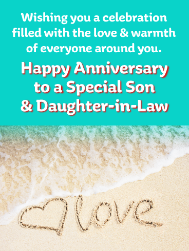 Enjoy This Milestone Happy Anniversary Card For Son And Daughter Birthday Greeting Cards By Davia Happy Anniversary Quotes Happy Anniversary Cards Happy Anniversary